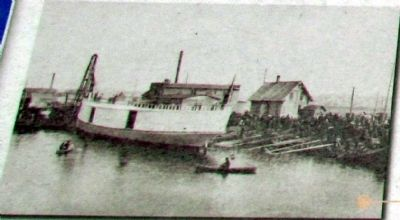 The Steam Freighter <i>Puritan</i>, 1887 image. Click for full size.