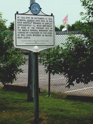 General Robert Ross Marker Photo, Click for full size