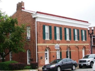 Jesse James Bank Museum and Markers image. Click for full size.