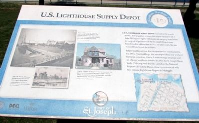 U.S. Lighthouse Supply Depot Marker image. Click for full size.