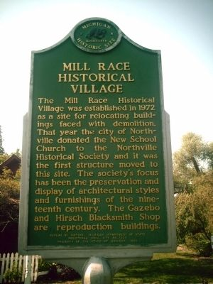 Mill Race Historical Village Marker image. Click for full size.