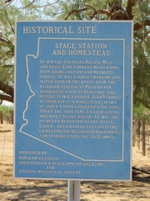Stage Station and Homestead Marker image. Click for full size.