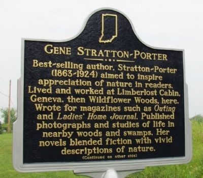 Gene Stratton-Porter Marker (Front) image. Click for full size.