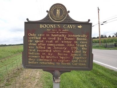 Boone's Cave Marker image. Click for full size.