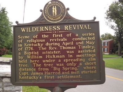 Wilderness Revival Marker image. Click for full size.
