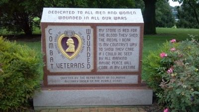 Wounded Combat Veterans Memorial Marker image. Click for full size.