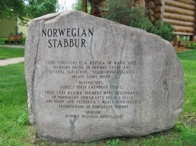 Norwegian Stabbur Marker image. Click for full size.