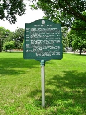Highland Park Marker image. Click for full size.