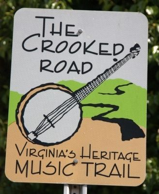 The Crooked Road — Virginia�s Heritage Music Trail Sign image. Click for full size.