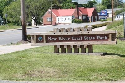 New River Trail State Park Sign image. Click for full size.