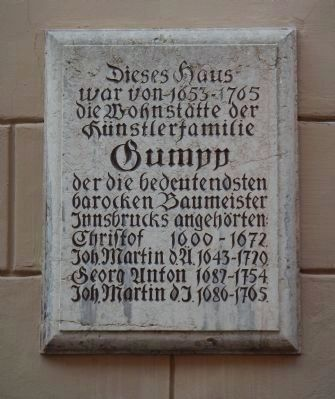 Gumpp House Marker image. Click for full size.