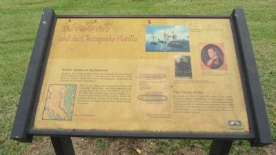 The War of 1812 and the Chesapeake Flotilla Marker image. Click for full size.