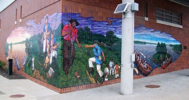 Lewis and Clark Mural and Marker image. Click for full size.