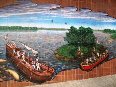 Lewis and Clark Mural Detail image. Click for full size.
