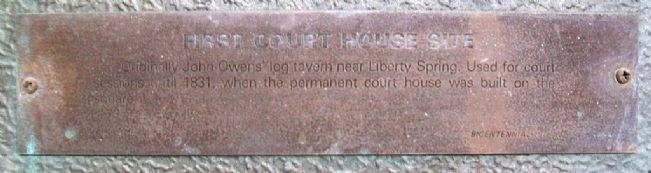 First Court House Site Marker Detail image. Click for full size.