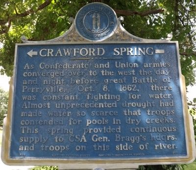 Crawford Springs Marker image. Click for full size.