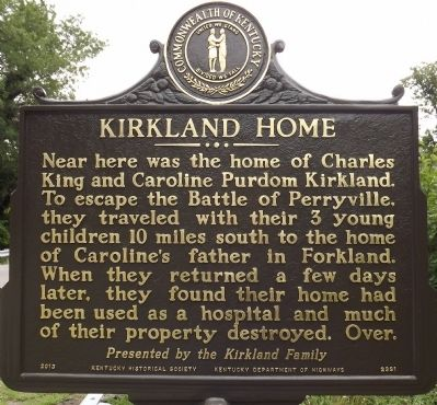 Kirkland Home Marker image. Click for full size.