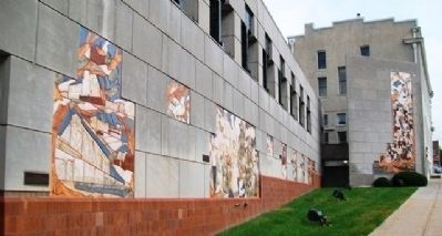 Murals at William S. Brandom Law Enforcement Center image. Click for full size.