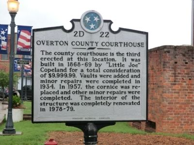 Overton County Courthouse Marker image. Click for full size.