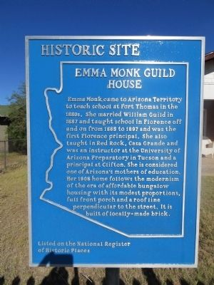 Emma Monk Guild House Marker image. Click for full size.