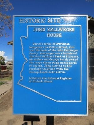 John Zellweger House Marker image. Click for full size.