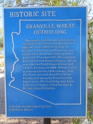 Granville Wheat Outbuilding Marker image. Click for full size.
