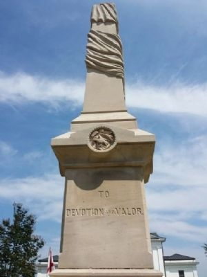 Civil War Monument - Right Side image. Click for full size.
