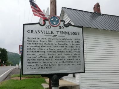 Granville, Tennessee Marker image. Click for full size.