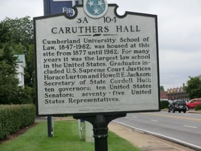 Caruthers Hall Marker image. Click for full size.