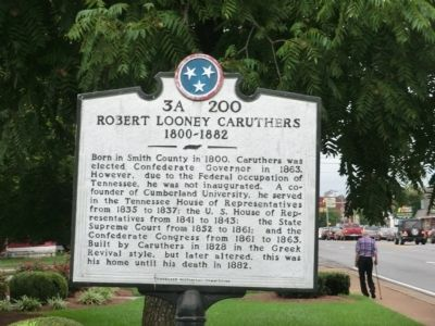 Robert Looney Caruthers Marker image. Click for full size.