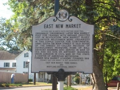 East New Market Marker image. Click for full size.