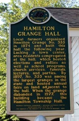 Hamilton Grange Hall Marker image. Click for full size.