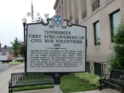 Tennessee's First African-American Civil War Volunteers Marker image. Click for full size.