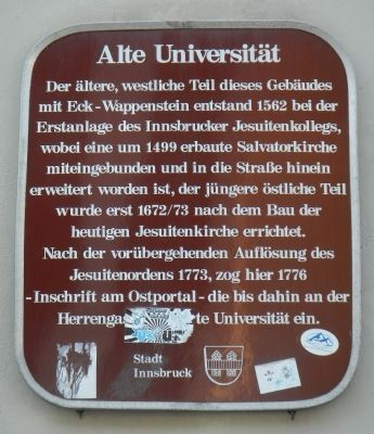 Old University Marker image. Click for full size.