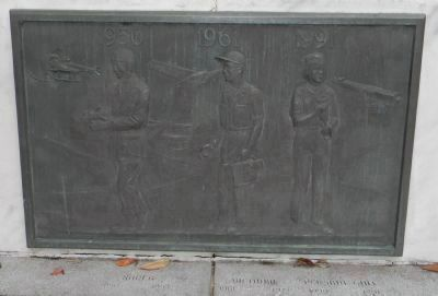 Pharmacists' War Memorial: close-up of north wall art work image. Click for full size.