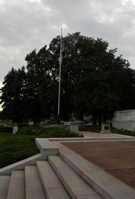 "Pharmacists' War Memorial/ ""Flag Pole Memorial Walkway"" image. Click for full size."