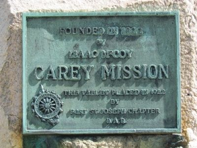 Carey Mission Marker image. Click for full size.