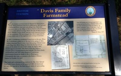"""Davis Family Farmstead"" Marker image. Click for full size."