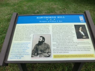 Hawthorne Hill Marker image. Click for full size.