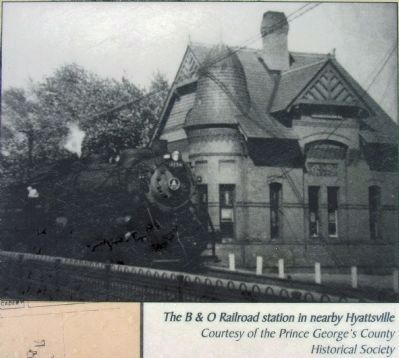 The B&O Railroad Station in Nearby Hyattsville image. Click for full size.