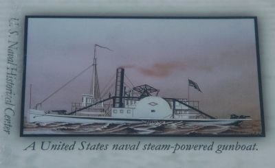 Top Right Image: A United States naval steam-powered gunboat. U.S. Naval Historical Center image. Click for full size.