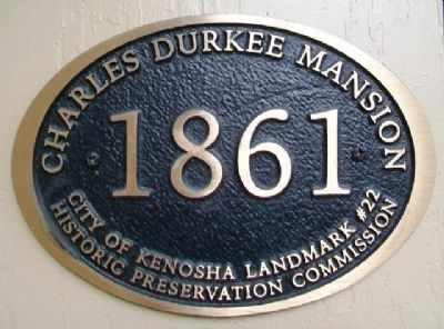 Charles Durkee Mansion Marker image. Click for full size.
