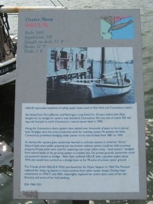 Oyster Sloop Nellie Marker image. Click for full size.