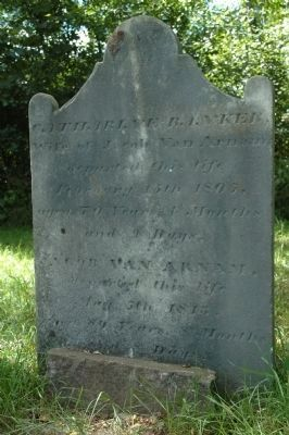 Captain Jacob Van Arnam Grave Marker image. Click for full size.