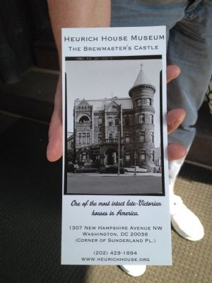 Brochure for Heurich House Museum image. Click for full size.