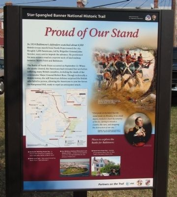 Proud of Our Stand Marker image. Click for full size.