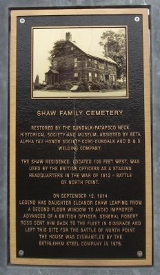 Shaw Family Cemetery Marker image. Click for full size.