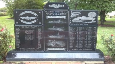 Delaware & New Jersey WWII Submariners Memorial Marker image. Click for full size.