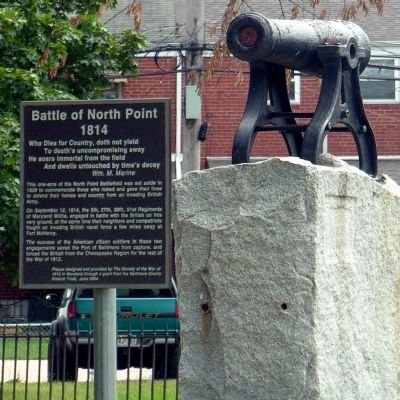 Battle of North Point Marker image. Click for full size.