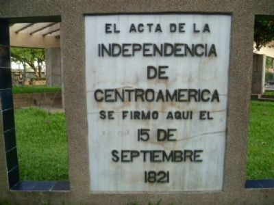 Central American Act of Independence Marker image. Click for full size.